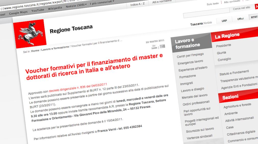 Bando Voucher Regione Toscana
