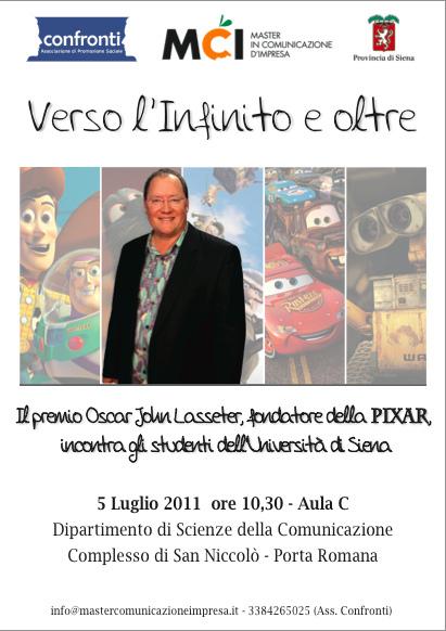 John Lasseter al Master MCI