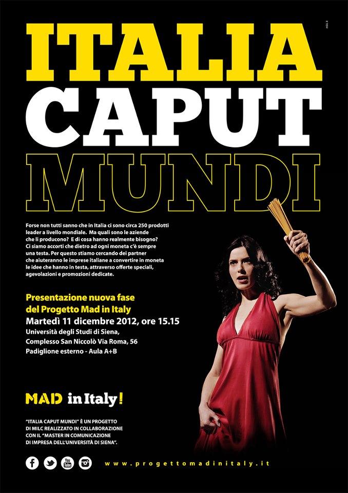 Seconda fase del Progetto Mad in Italu