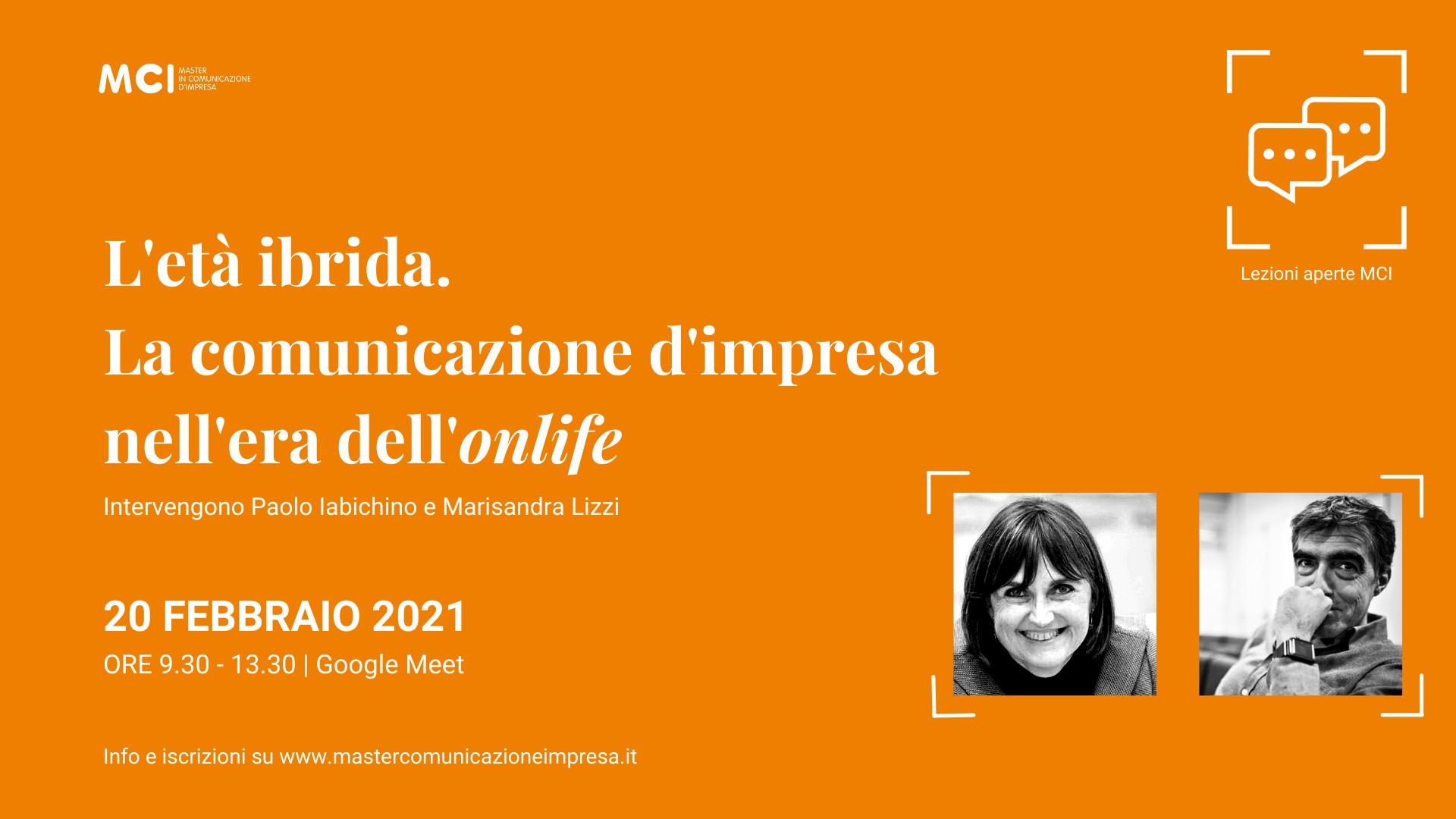 Lezione aperta MCI con Paolo Iabichino e Marisandra Lizzi